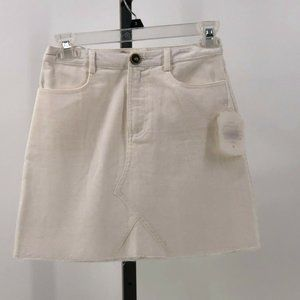 altar'd state ivory corduroy skirt jr size XS NWT